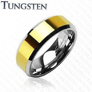 Newly listed MENS & WOMENS TUNGSTEN TWO TONE GOLD WEDDING RING SET 5 6