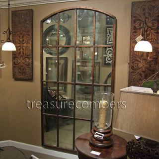 Huge Metal Floor Wall MIRROR AMIEL Large Arch Leaning Windowpane