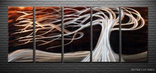 Metal Wall Art Abstract Landscape Modern Sculpture Contemporary Red