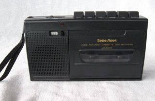 Vintage Radio Shack CTR 76 Voice Actuated Cassette Recorder ~ Player