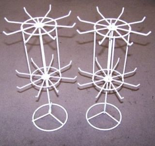 SPIN JEWELRY DISPLAY RACK 16 IN WHITE counter racks displaying holder