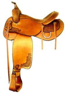 NEW 084904P6 Tex Tan Western Pecan Trail Pleasure Saddle 16 Seat