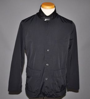 Michael Kors Black Leather Trim Jacket Coat US M EU 50