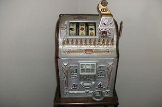 Antique 1929 Mills .25 cent Liberty Bell Slot machine /Very RARE