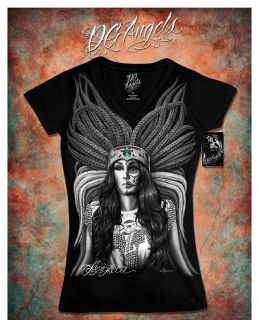 Mayan Mexican Calendar Sugar Skull DGA David Gonzales Women T Shirt