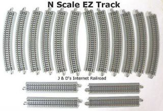 SCALE MODEL RAILROAD TRAINS LAYOUT BACHMANN SILVER EZ TRACK 16 PIECE