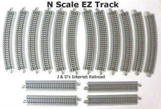 SCALE MODEL RAILROAD TRAINS LAYOUT BACHMANN SILVER EZ TRACK 16 PIECE