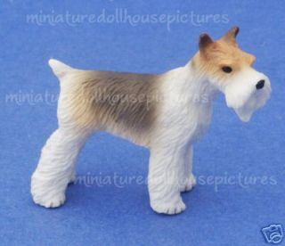 Miniature Dollhouse Fox Terrier Dog New In Box