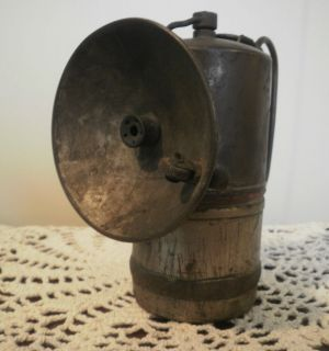 Vintage Miners Carbide Lamp Light