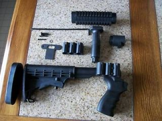 Mossberg 500 Complete Tactical Stock W/3 Rail Forearm