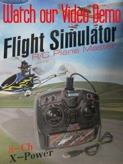 Power 8CH RC Flight SImulator Contorller f Helicopter Airplane Glider