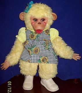Vintage RUSHTON 15 TIPPY MONKEY Plush Stuffed Toy Doll Howdy Doody