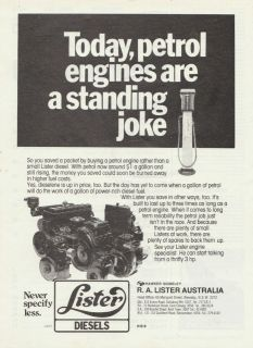 Vintage 1948 LISTER PETROL, KERO, DIESEL ENGINES Advertisement