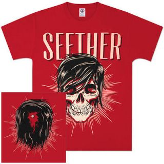 NEW SEETHER, Ronlewhorn Skull Red MensT Shirt 2012 Tour/Concert Merch