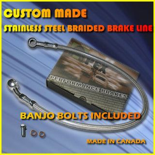 BOBBER MOTORCYCLE STAINLESS STEEL 4 BRAKE LINES KIT