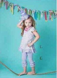 Designer mustard Pie vintage look girls josie tango top and pants set