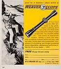 1966 Ad W. R. Weaver Gun Rifle Scope Parts Accessories Hunting