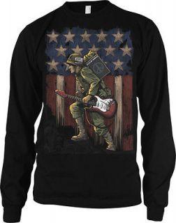 American Flag Guitar Music Soldier Vietnam War Armed Forces Mens