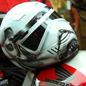 stormtrooper airbrushed custom motorcycle helmet DOT SPARX S XXL