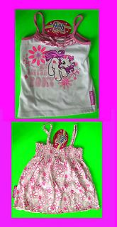 My Little Pony Baby Girls White Vest & Pink Flower Vest Dress 2 3