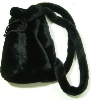 GAP KIDS Childs Girls Black Faux Fur Mini Backpack Bookbag Putse Tote