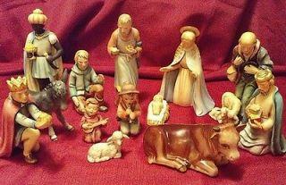Vintage GOEBEL Hummel Large Nativity 13 piece Set 214 TMK 4 1951