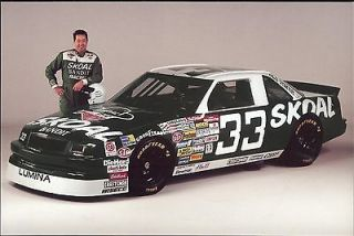 1993 Harry Gant #33 Skoal Bandit NASCAR Postcard