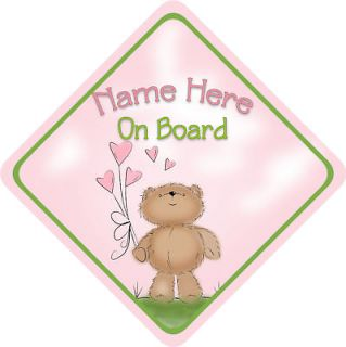 Personalised Coco Bear Child/Baby on Board Car Sign