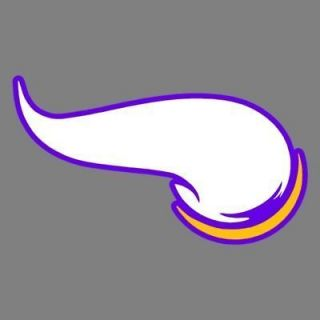 Vikings Horn Logo 7 Full Color Auto Car Truck Window Stickers Decals