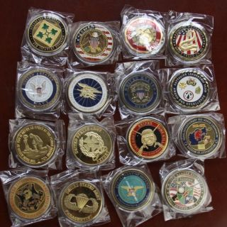 Different Military Challenge Coins /S543 ARMY Rangers Navy seal