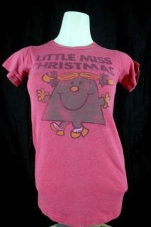 Junk Food Juniors XS Little Miss Christmas Heather Red SS T shirt