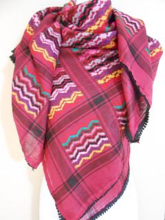 Burgandy Arab Shemagh Head Scarf Neck Wrap Authentic Cottton Palestine