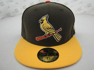 NEW ERA 5950 FITTED CAP RARE CUSTOM MLB ST. LOUIS CARDINALS YELLOW