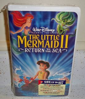 Little Mermaid II The Return to the Sea VHS Video Sealed