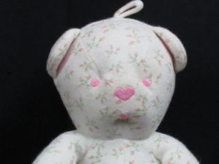 PLUSH AMY COE FLOWER PINK ROSES STUFFED ANIMAL BABY TOY TEDDY BEAR