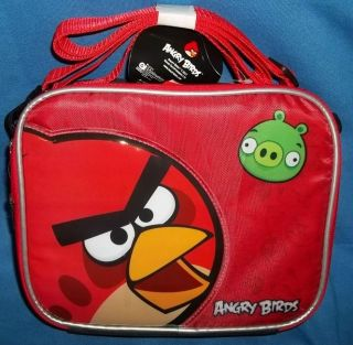 ANGRY BIRDS LunchBox NEW Lunch Bag Purse RED