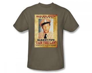 Andy Griffith Show Barney Fife I Am The Law TV Show T Shirt Tee