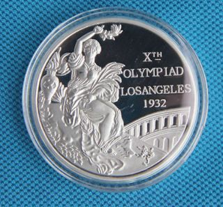 1932 Los Angeles Olympic Winner Silve Medal Commemorative Coin