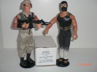 12 BLACK GI JOE 8 to 14 ACTION FIGURE STANDS