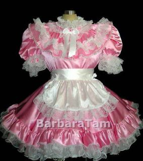BBT ADULT SISSY FRENCH MAID DRESS PINK