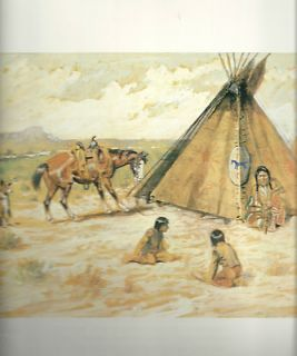 Charles M. Russell, Native American Print, Joy of Life