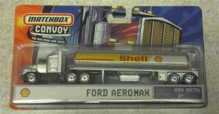 Matchbox Convoy Ford Aeromax SHELL OIL Gas Petroleum Big Rig Tanker