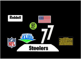 steelers helmet decals in Football NFL