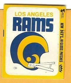 EARLY 1970s NFL OLD LOGO GLOSS PATCH DECAL STICKER LOS ANGELES L A