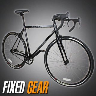 Track Fixed Gear Bike Fixie Single Speed Road Bicycle   Black Color