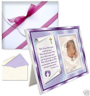 Baptism Christening Gifts Numbers Picture Frame