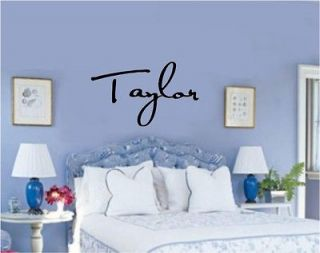 Custom Name Vinyl Decal Wall Sticker Letters Same font style as Taylor