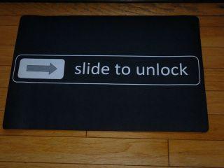 Slide to Unlock Black Front Door Mat Small & Large Dorm Funny Custom