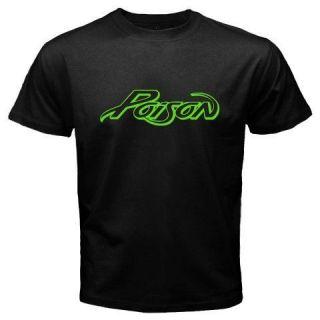 New Rare POISON Logo *Old School Rock Band Music Mens Black T Shirt