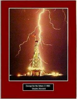 Worlds Largest Land Drilling Rig Hit By Lightning 8 1/2x11/printed